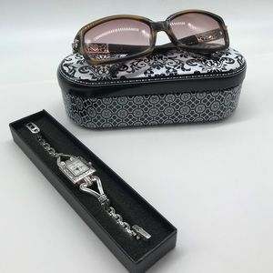 Womens Brighton Peru Wrist Watch and Sunglasses